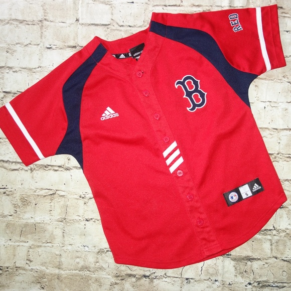 b8ee082e adidas Shirts & Tops | Boston Red Sox Jersey Boys S 8 Red | Poshmark